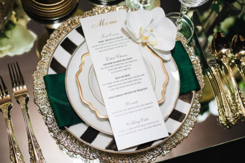 Elegant Gold Foil Menu Card