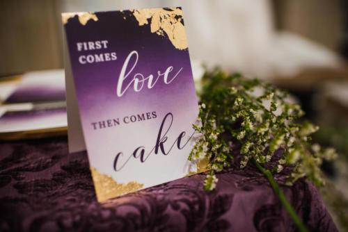 Wedding Cake Signage