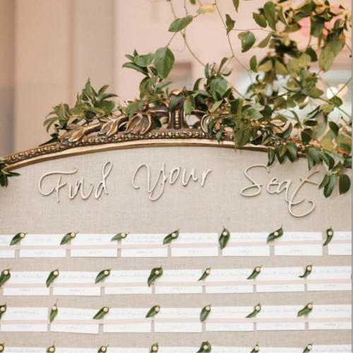 Framed Wedding Seating Chart